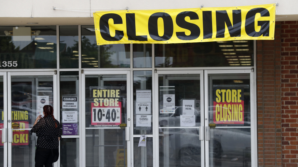 A store is set for closing in St. Charles, Mo. Friday's U.S. unemployment report for May is expected to show the highest jobless rate since the Great Depression.