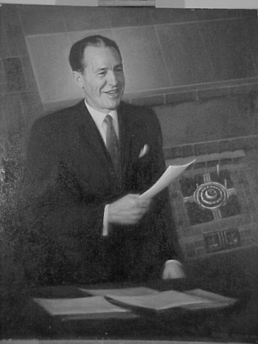 Portrait of former LA Mayor Sam Yorty, the first Mayor from the San Fernando Valley. He served from 1961-1973.