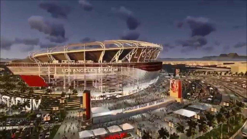 The proposed NFL stadium in Carson.
