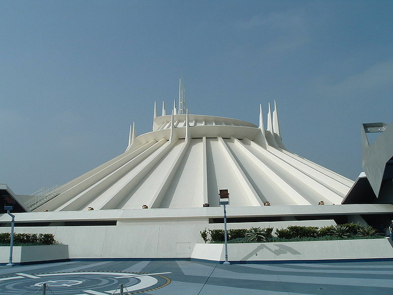 Space Mountain at Disneyland. The ride has been closed until further notice.