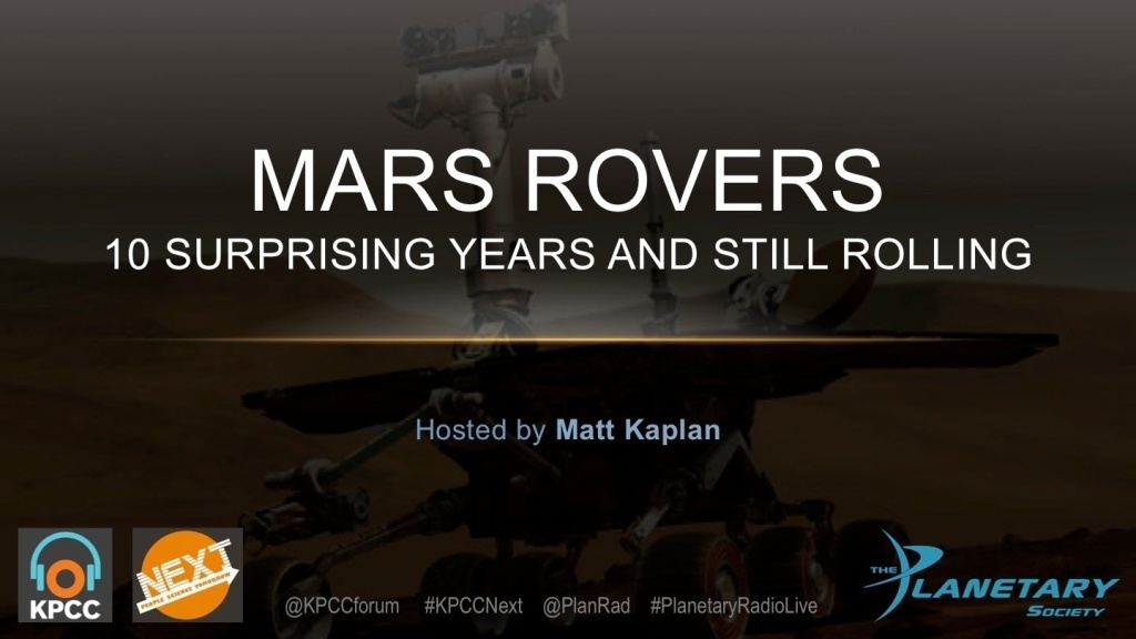 The Mars Rovers -- man-made robots with uncanny appeal to the human imagination. This program is a partnership between KPCC's Crawford Family Forum and The Planetary Society.
