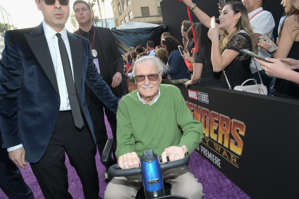 Producer-writer Stan Lee attends the Los Angeles Global Premiere for Marvel Studios'