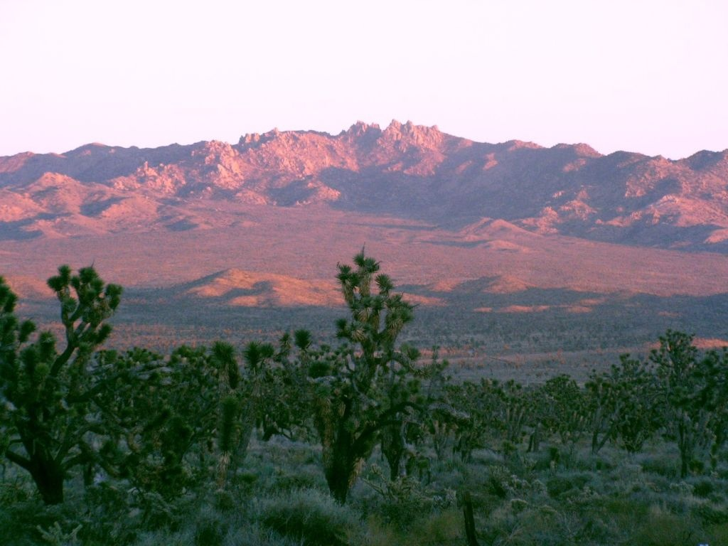 Sunset at the New York Mountains in the Mojave Desert.