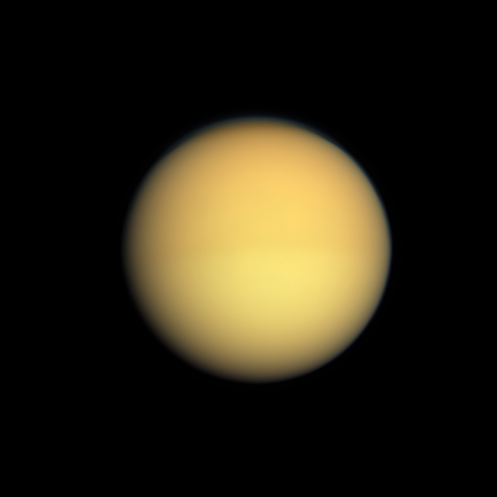 Titan as seen by Cassini.