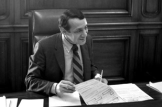San Francisco's first openly gay supervisor, Harvey Milk, picture in 1978.