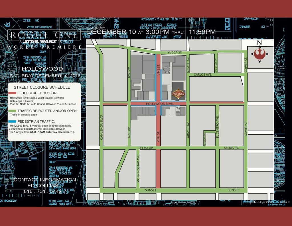 A street closure map showing the streets that are closed Saturday afternoon through late Saturday evening.