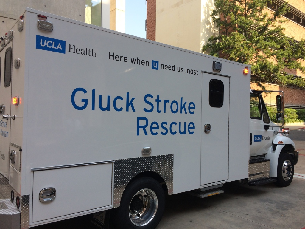 UCLA's mobile stroke unit is equipped with a mobile CT scanner to diagnose and treat stroke patients in the field.