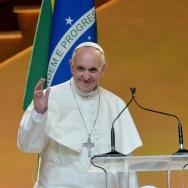 BRAZIL-POPE-WYD-ROUSSEFF