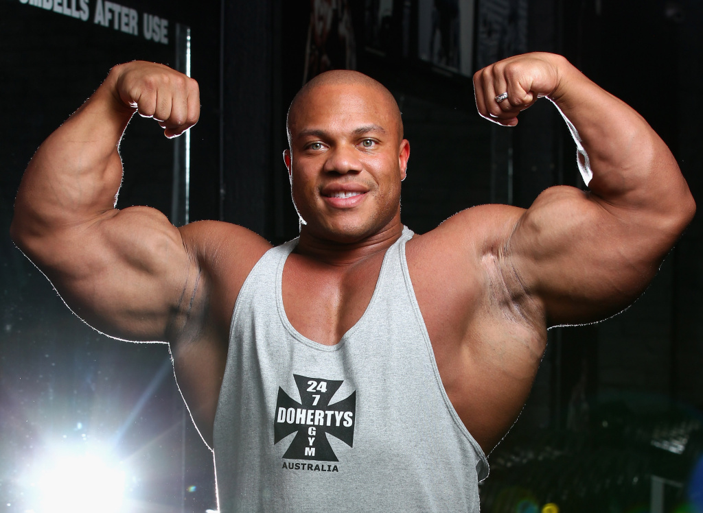 Mr Olympia Phil Heath poses during a media call ahead of the 2012 IFBB Australian Pro Grand Prix XIII on March 16, 2012 in Melbourne, Australia. Baby boomer men have recently become targets in a new push by drug companies to combat low testosterone.