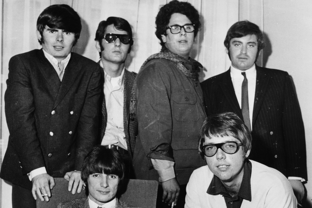 Mark Volman and Howard Kaylan (top row, at right) have been fighting to get payment from radio stations and satellite services for songs they recorded as The Turtles before a 1972 copyright law was enacted.