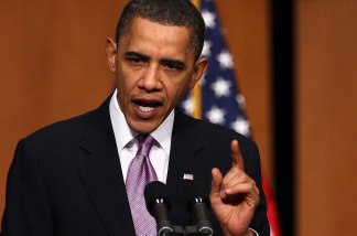 U.S. President Barack Obama speaks about Health Care