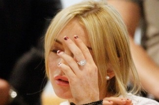 Actress Lindsay Lohan during her arraignment for a felony count of grand theft on February 9, 2011 in Los Angeles, California.