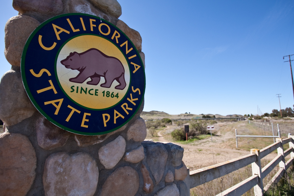 Entrance gate to the Santa Monica Mountains National Recreation area, which is the largest urban national park in the United States.