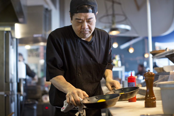 Samy Nguyen is the executive chef at Tra House in Little Saigon in Garden Grove. Nguyen's dishes combine American and Vietnamese influences.