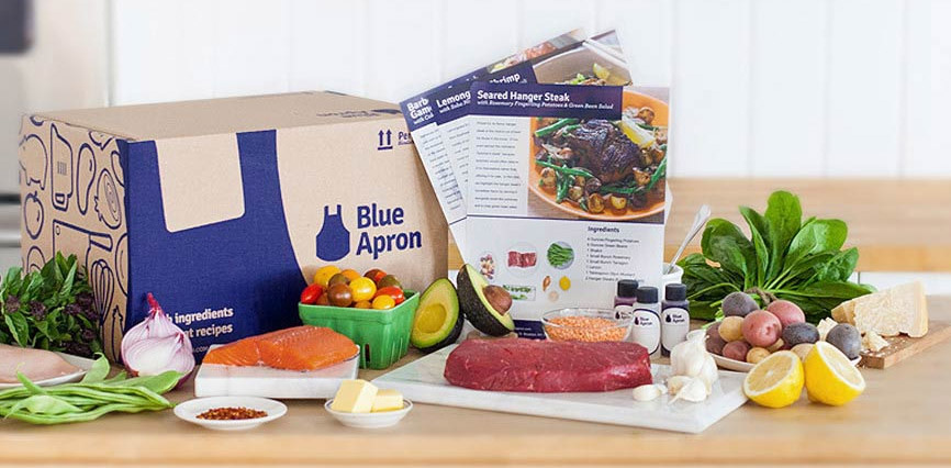 Blue Apron is one of the emerging services that delivers meal-kits directly to your home. Inside each box is a recipe complete with all the necessary ingredients measured out. All you have to do is chop and heat.