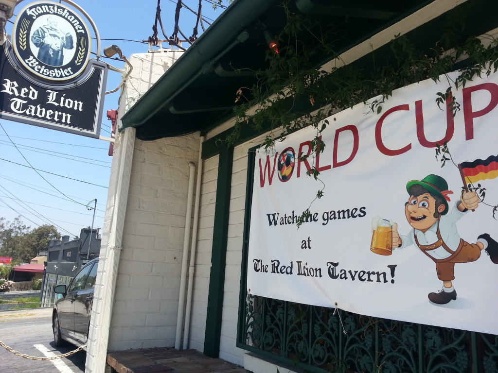 German tavern Red Lion in the Silver Lake neighborhood will have a viewing of the 2014 World Cup championship.