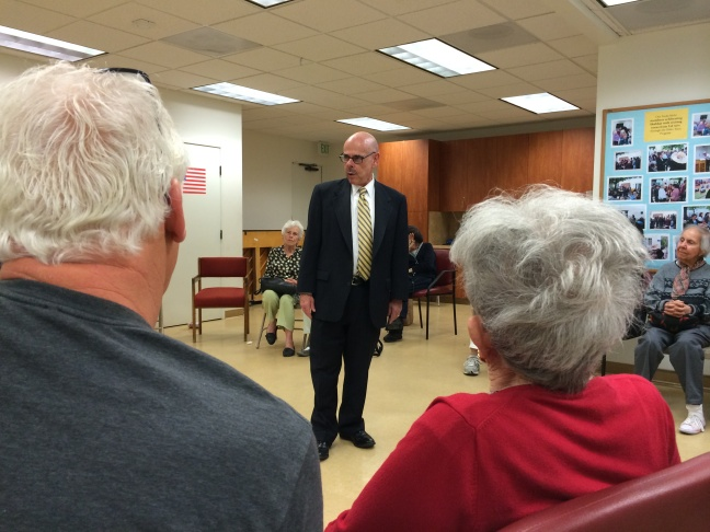 Rep. Waxman (D-West Los Angeles) bids farewell to constituents