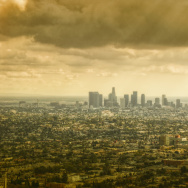 gold los angeles skyline cityscape city landscape