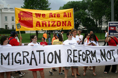 Protestors in Washington D.C. called for immigration reform in the wake of Arizona Governor Jan Brewer's signing of SB 1070 in 2010. Thousands are expected to march again this week, in support of immigration reform.