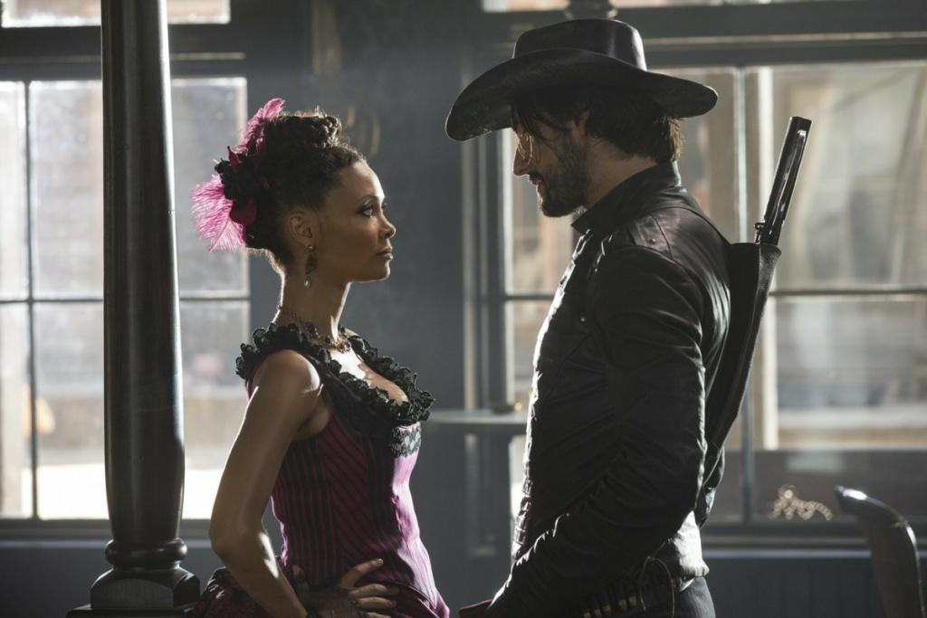 """Thandie Newton and Rodrigo Santoro in """"Westworld."""""""