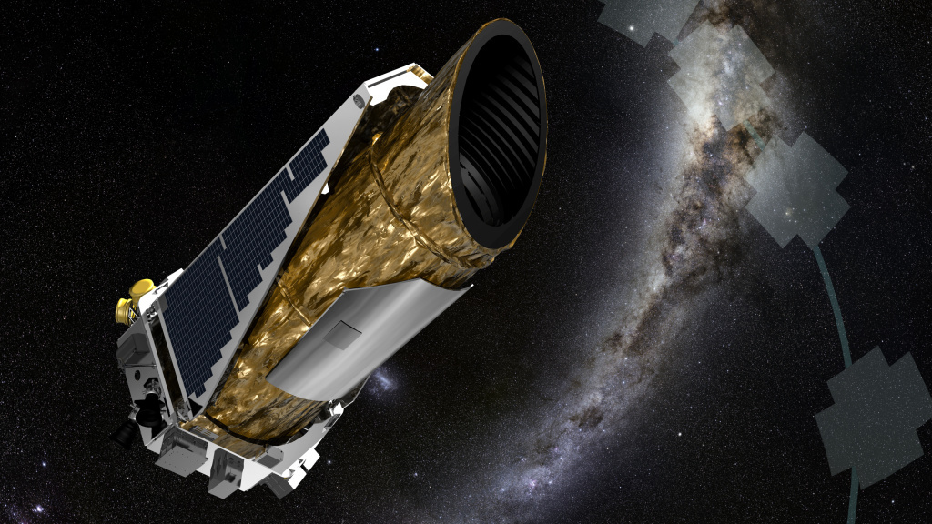 The Kepler space telescope is seen here in an artist's concept image. NASA scientists have released a final set of discoveries from its original mission. The data includes 10 Earth-like planets.