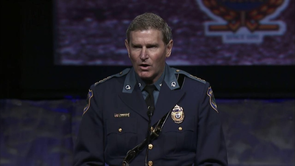 "Terrence M. Cunningham, president of the International Association of Chiefs of Police, said the history of policing has had dark periods, including times when law enforcement officers ""have been the face of oppression for too many of our fellow citizens."""