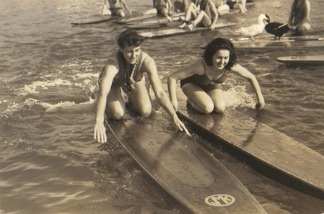 Old time paddleboarding!