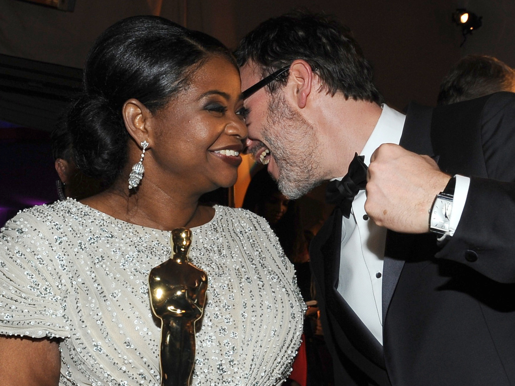 Two of the Academy Award winners this past year, Octavia Spencer (L) and Michel Hazanavicius (R), were both involved in