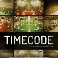 "The official poster for the Oscar nominated live action short ""Timecode."""