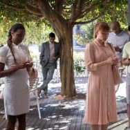 "Bryce Dallas Howard (center) stars in ""Nosedive"" from the Netflix series ""Black Mirror"