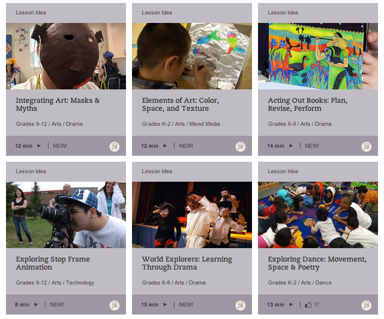 Teaching Channel offers more than 50 videos to help teachers with arts instruction in their classrooms.