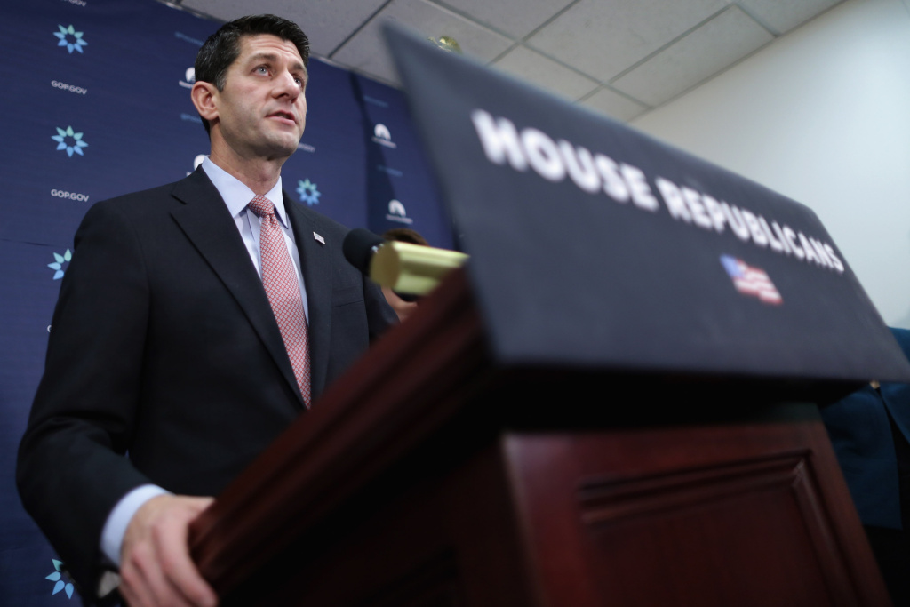 Speaker of the House Paul Ryan (R-WI) holds a news briefing following the weekly Republican Conference meeting at the U.S. Capitol in this November 16, 2015 file photo. Ryan called Tuesday for a