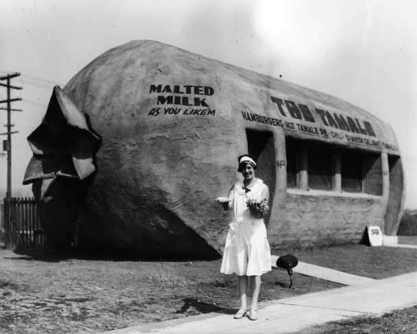 The Tamale, when they sold tamales there, in an undated photo from the LA Public Library.