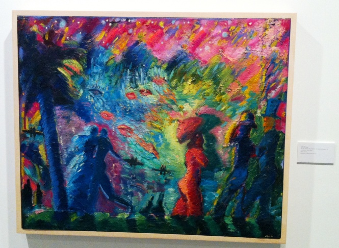 One of Almaraz's final paintings, done in 1989, the year he died of AIDS. Exhibited in