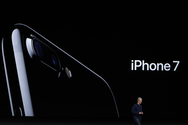 Apple Senior Vice President of Worldwide Marketing Phil Schiller speaks on the new Apple iPhone 7 during a launch event on September 7, 2016 in San Francisco, California.