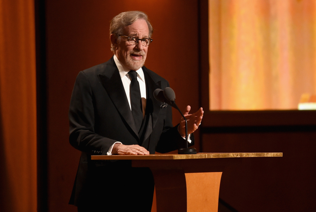 Steven Spielberg speaks onstage during the Academy of Motion Picture Arts and Sciences' 10th annual Governors Awards at The Ray Dolby Ballroom at Hollywood & Highland Center on November 18, 2018 in Hollywood, California.