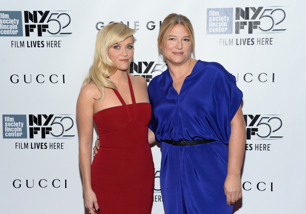 Producers Reese Witherspoon, left, and  Bruna Papandrea attend the opening night gala world premiere of