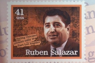 Ruben Salazar was one of five late journalists honored with a postage stamp in 2007.