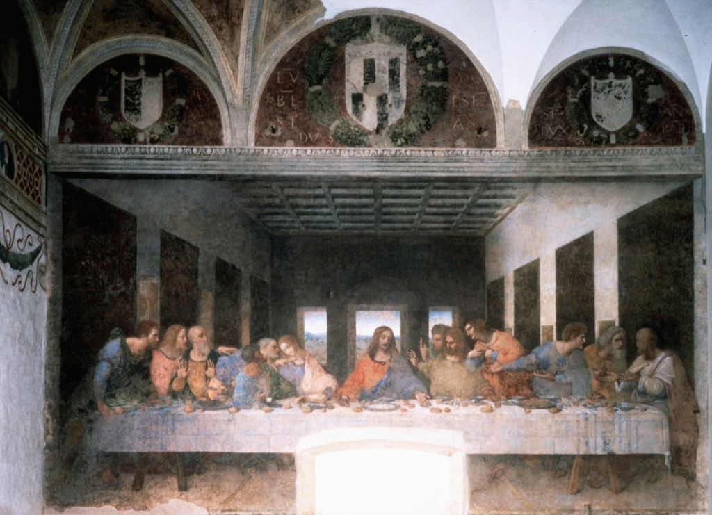 File: A photo released May 24, 1999 showing Leonardo da Vinci's 'The Last Supper' after restoration in Milan's Santa Maria delle Grazie church.