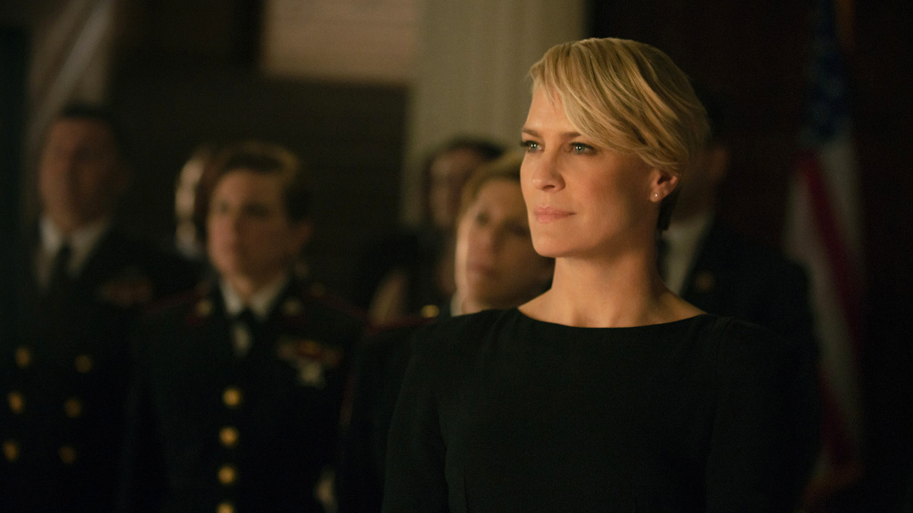 Robin Wright's fictional character Claire Underwood in the Netflix series
