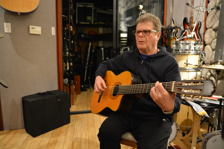 Gustavo Santaolalla at his Echo Park studio.
