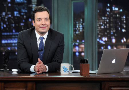 "Seth Meyers Visits ""Late Night With Jimmy Fallon"""