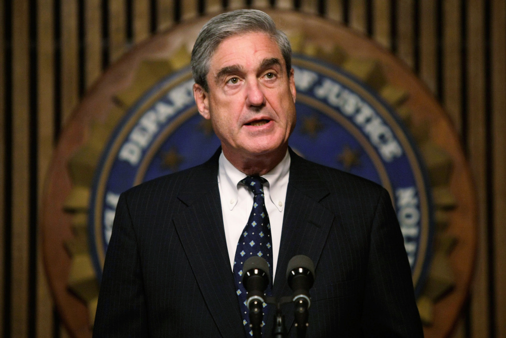 FBI Director Robert Mueller speaks during a news conference at the FBI headquarters June 25, 2008 in Washington, DC. The news conference was to mark the 5th anniversary of Innocence Lost initiative.