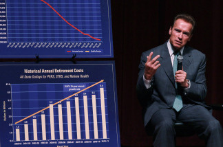 Governor Schwarzenegger Discusses The State Budget at City Summit 2010 August 31, 2010 in San Francisco,