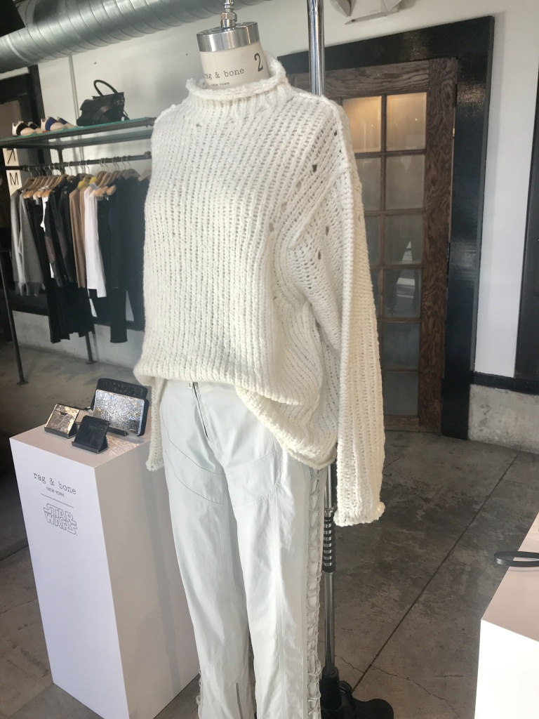 As part of Rag & Bone's Star Wars collection, an outfit inspired by Princess Leia's Hoth outfit.