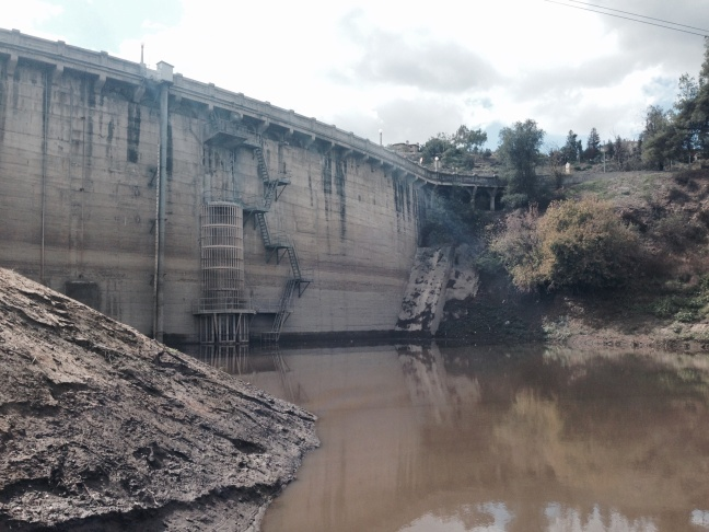 Devil's Gate Dam is in Pasadena, located near the 210 Freeway and Oak Grove Drive.