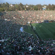 Fans packed the Rose Bowl just before kickoff Thursday evening as teams played the last game in Pasadena of the Copa América soccer tournament.