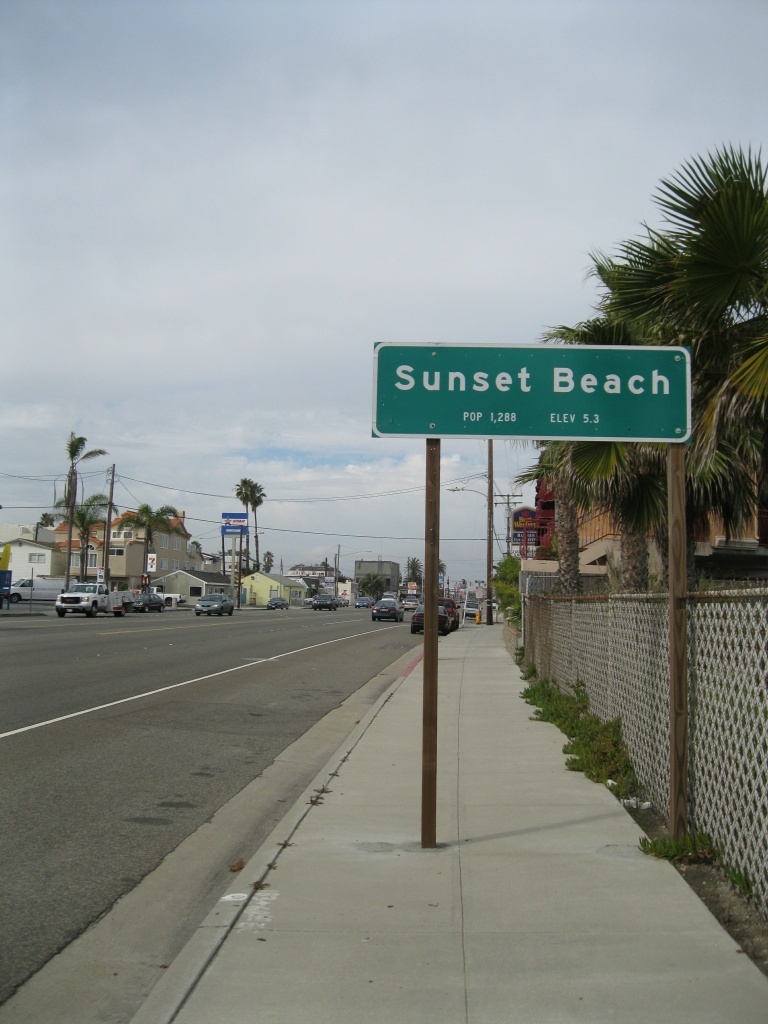 Sunset Beach is an unicorporated pocket of Orange County that stretches about one mile along Pacific Coast Highway and is only about three blocks wide.