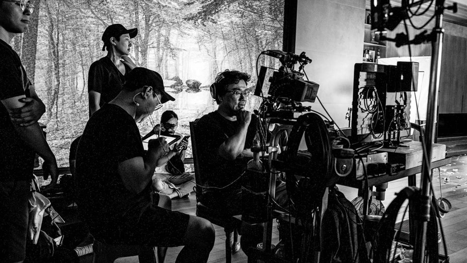 Director Bong Joon Ho on the set of
