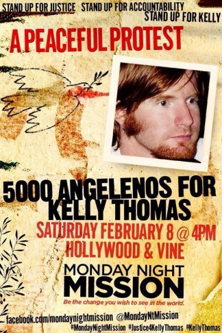 Kelly Thomas, peaceful protest